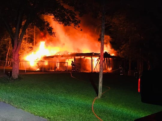 A home in the Powers Community of Jones County was fully engulfed in flames by the time firefighters arrived shortly after 1 a.m., Tuesday, June 18, 2019.