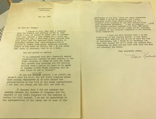 A 1940 letter from First Lady Eleanor Roosevelt to boxing legend Gene Tunney is part of the Joyce Sports Research Collection at Notre Dame