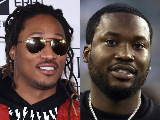 Future, left, and Meek Mill will perform Aug. 30 at Ruoff Home Mortgage Music Center.