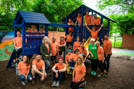 More than two dozen NextGen members participated in a renovation project for the Dayspring Center.