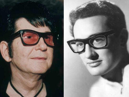 "The music of Roy Orbison, left, and Buddy Holly will be presented as part of ""The Rock 'N' Roll Dream Tour"" on Oct. 22 at Paramount Theatre in Cedar Rapids, Iowa."