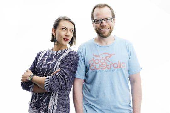 María Jaramillo and Cody Beeler of popular YouTube channel WhyNotSpanish