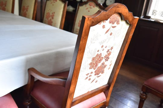 These beautiful chairs are in the dining area at Hopecote.