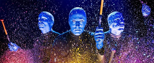 The Blue Man Group's new show has new content, instruments and a new director.