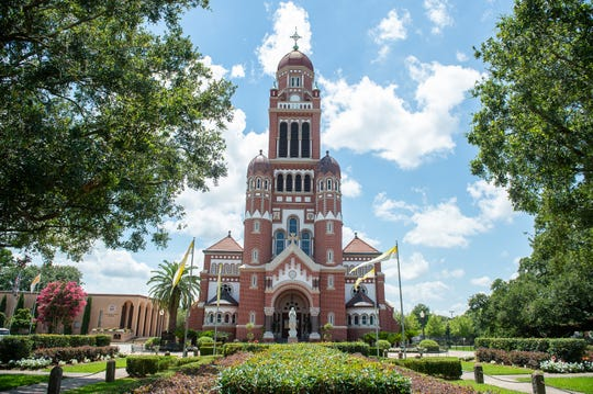 Cathedral of St. John the Evangelist in Lafayette, LA. June 18, 2019
