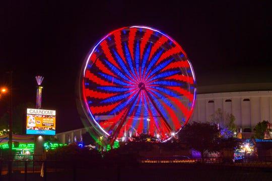 Ferris Wheel at the Cajun Heartland State Fair in Lafayette, LA.
