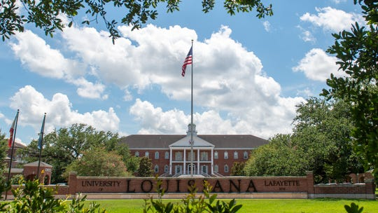 Angelle Hall on the Campus of the University of Louisiana in Lafayette, LA.