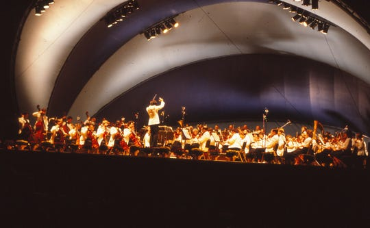 This photograph shows the first concert of the 1985 Lancaster Festival.