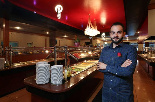 Ibrahim Qasim is the general manager of Al Hamra Mediterranean Halal Buffet.  The restaurant is inside the Mid City Mall.