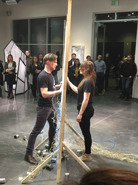 Cristian Andersson and Katharina Abderholden perform EARTH//AIR.