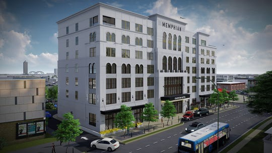 The Memphian Hotel, the seven-story, 100-room hotel planned for Overton Square, is closer to reality now that a building permit has been filed.