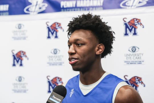 James Wiseman addresses the media Tuesday.