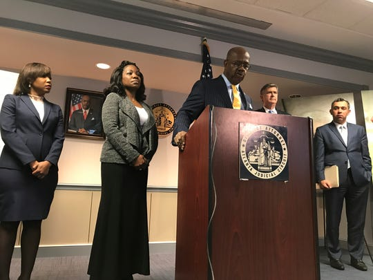 Fulton County District Attorney Paul Howard discusses his attempts to obtain information about the killing of Jamarion Robinson, who was shot 59 times by law enforcement officers, on Friday, Dec. 28, 2018. Howard said that the DOJ denied his request for information and he was unable to talk to officers at the scene.