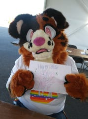 PrideFest Milwaukee was one of the first places Mika Haliga of Cudahy saw fursuiting in person.