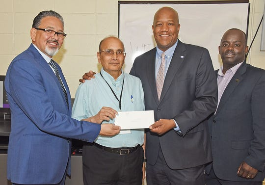 AT&T announced Tuesday it has donated $25,000 in scholarship funds to students at Grambling State University.