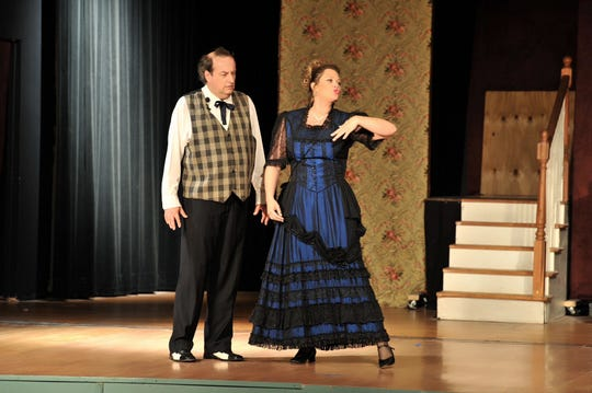 "Lee Bridges as Horace Vandergelder, and Erika Hogge as Dolly Levi. The Millbrook Community Players will present the musical ""Hello Dolly"" starting June 20, 2019."