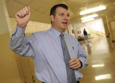 Longtime Watertown High School Principal Jeff Luttrell, shown here in 2012, has accepted a position with Wilson County Schools' central office.