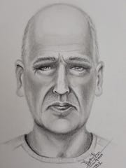 Police sketch of suspect in Hendersonville dog shooting.