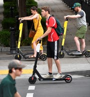 Five scooter companies sent a joint proposal to Mayor David Briley on improving scooter operations in Nashville, recommending advocacy for bike lanes, free helmets at community centers and limits on scooter fleets.