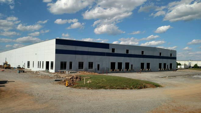 Dyke Industries will utilize this building under construction in Wilson County near Interstate 840 and Couchville Pike.