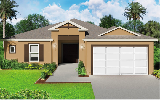 An artist's conception of the Orquida, a new design offered at Arrowhead Reserve in Immokalee.
