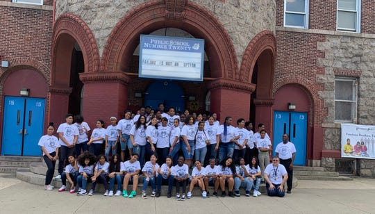 Paterson Public School No. 20 eighth grade students, class of 2019