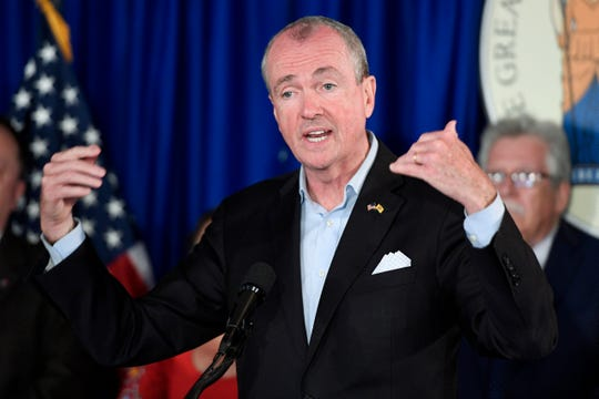 Governor Phil Murphy holds a press conference on the 2020 New Jersey state budget on Tuesday, June 18, 2019, in Trenton.