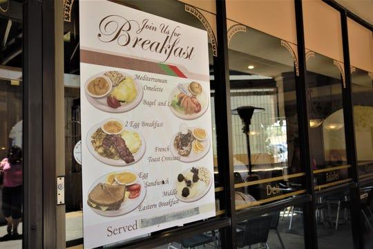 International Delights' breakfast menu. The restaurant closed its doors Saturday, June 15.