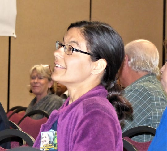 Volunteer Andrea Fernandez said rules in solicitation ordinance could hinder efforts to help worthwhile causes.