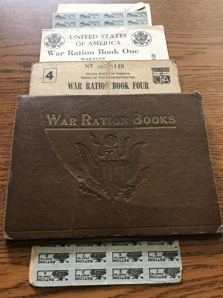 War ration books found in South Lyon park