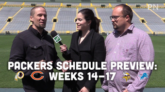 Jim Owczarski, Olivia Reiner and Ryan Wood discuss the last four games of the Packers' 2019 regular-season schedule.
