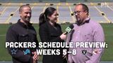 Jim Owczarski, Olivia Reiner and Ryan Wood discuss Weeks 5-8 of the Packers' 2019 regular-season schedule.
