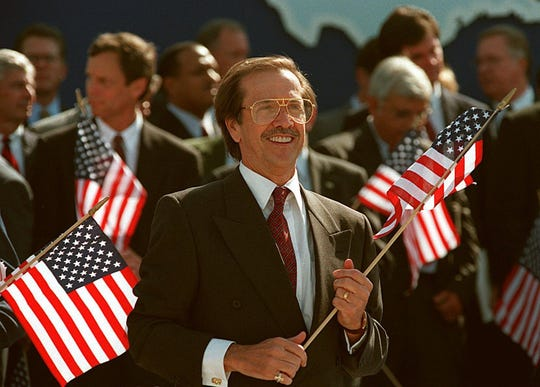 Sonny Bono was elected to Congress in 1994 after serving as Palm Springs mayor.
