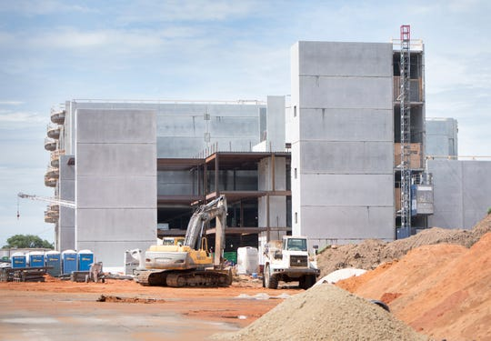 Construction continues in June at the new Escambia County Correctional Facility.