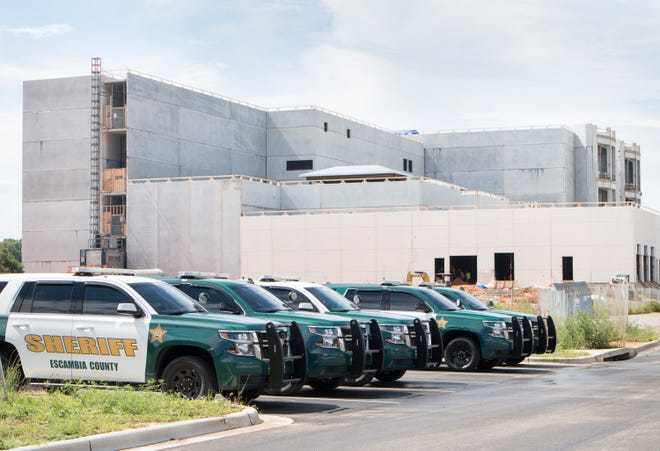The new Escambia County Correctional Facility under construction in Pensacola on Tuesday, June 18, 2019.
