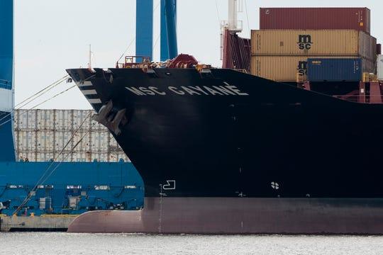 El barco confiscado en Filadelfia se llamaba MSC Gayane, según imágenes televisivas del operativo.