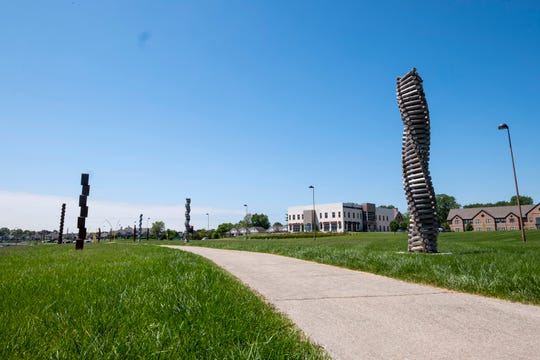 New sculptures have been installed along the boardwalk along Thomas Edison Parkway in Port Huron. The sculptures will be up for about 14 months.