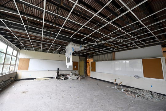 An $8 million expansion and renovation project at York Catholic High school includes a new artificial turf sports field, a retention pond, remodeled classrooms and an elevator, Tuesday, June 18, 2019.John A. Pavoncello photo