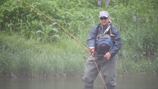 Bob Bukk of Pittsburgh casts on Penns Creek in this file photo from 2016. Penns Creek attracts fly-fishing enthusiasts from across the country, especially during late May and early June.