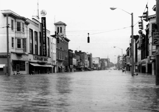 Forty-seven years ago, West Market Street in York was flooded during Tropical Storm Agnes in June 1972. Four people died, one man went missing, and damage in York city alone totaled $10 million.