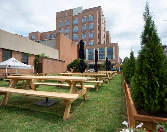 Gift Horse Brewing Co. in downtown York opened its beer garden in May 2019.
