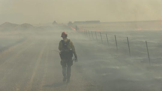 A 2017 file photo of a Bureau of Land Management firefighter.