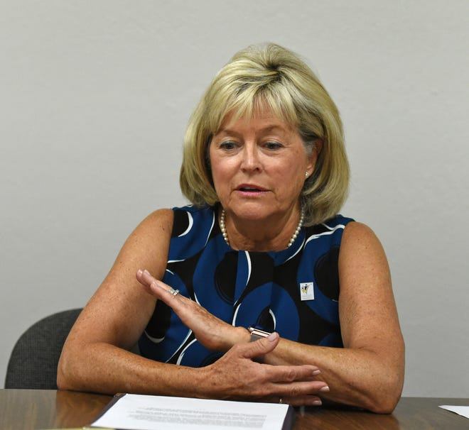 WCSD board president Katy Simon Holland talks about  superintendent Traci Davis being on indefinite leave of absence.