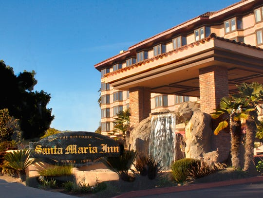 The Santa Maria Inn, on the main drag in Santa Maria, Calif., combines the original 1917 inn and a newer tower.