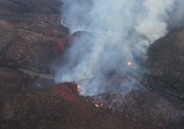 The Lumgrey Fire grew to 230 acres overnight in Siskiyou County west of Yreka.