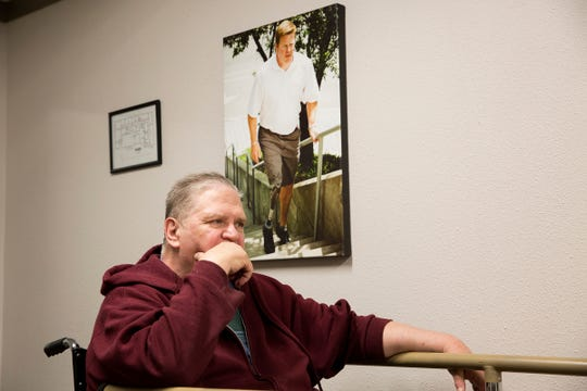 Randy Geer is pictured at Hanger Clinic: Prosthetics and Orthotics in Salem on June 10, 2019. Geer lost both of his legs to diabetes and complications from an infection.