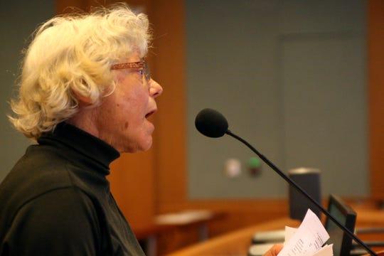 Marla Andersen addresses the Board of Supervisors. June 18, 2019.