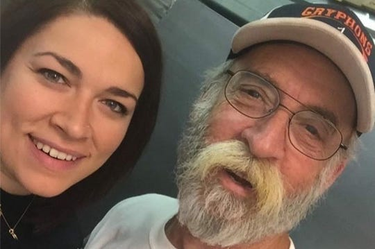 Ashley Carannante, left, with her father, Michael Cunningham. Cunningham passed away in Croatia after suffering a heart attack in June 2019.