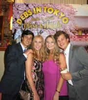 """Jack Smith, Debs/Honorees Natalie Lukacs and Olivia Morgan, Miller Elston at """"Debs in Tokyo at Silver Lake Ballroom."""