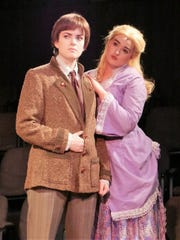 Michaela Karr as Edwin Drood and Darby Vincent as Rosa Bud